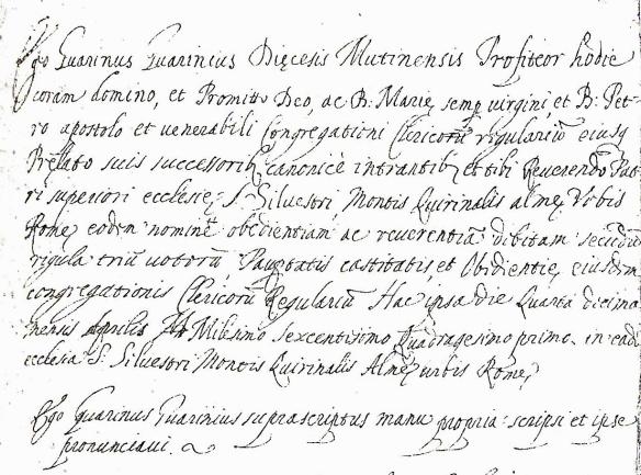 1641 vows
