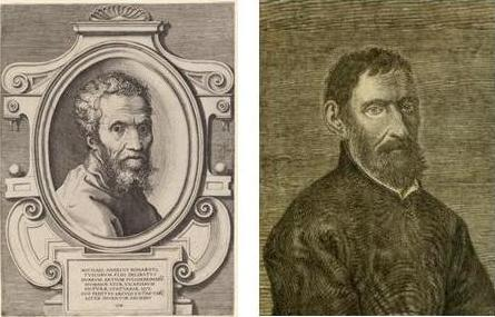 Michelangelo and Guarini portraits