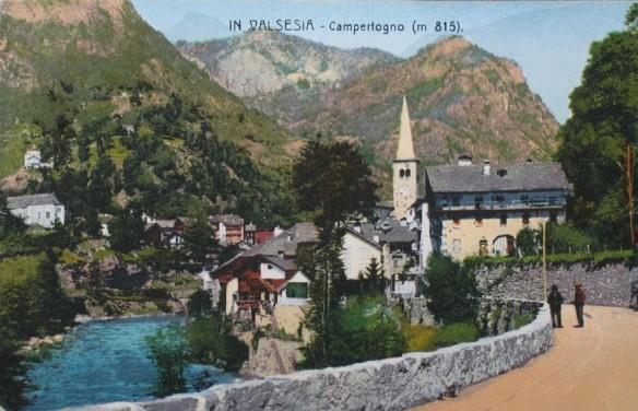 In Valsesia, Campertogno, 1922 (m 815)