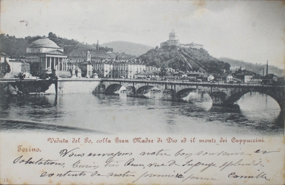 Torino, Veduta del Po, colla Grand Madre di Dio ed il monte dei Cappuccini