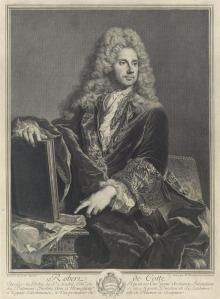 Pierre Drevet, undated engraving of Robert de Cotte, Source: Yale University Art Gallery