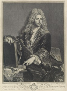 Pierre Drevet, undated engraving of Robert de Cotte, Source: Yale University Art Gallery