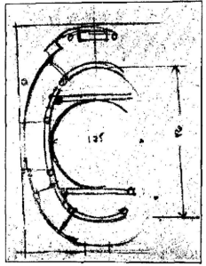 Hans Bernoulli, Schematic sketch of Guarino Guarini's Santa Maria d'Araceli, Vicenza (1675-1680), c. 1919