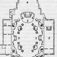 Plan of Santa Maria d'Araceli, Vicenza Source: http://web.archive.org/web/20080415111315/http://www.araceli.it/parrocchia/chiesaold.htm