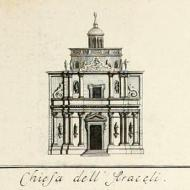 Chiesa dell'Araceli, from F. Vendramini Mosca, Descrizione delle architetture, pitture e scolture di Vicenza, con alcune osservazioni (Vicenza, 1779), fold-out plate at back Source: http://archive.org/stream/descrizionedelle00vend#page/n177/mode/1up / public domain