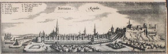 Tallinn (Reval), by Matthäus Merian, 1640Source: ETH-Bibliothek Zürich, Bildarchiv / Fotograf: Unbekannt / Fel_038335-RE / Public Domain Mark