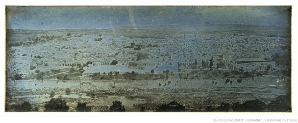 Jerusalem: panoramic view taken from the Mount of Olives, photograph by Joseph Philibert Girault de Prangey Source: Gallica / Bibliothèque nationale de France