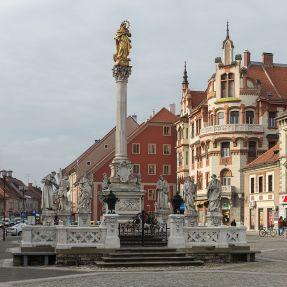 Joseph Straub, Plague Column, Maribor, 1743 Source: Wikimedia Commons / Ralf Roletschek / GNU Free Documentation License Version 1.2
