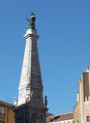 C. Fanzago / L. & D. A. Vaccaro, Obelisk of St. Dominic, Naples, 1656/58-1737Source: Wikimedia Commons / public domain