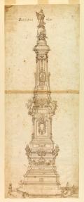 Domenico Antonio Vaccaro, Design for the Obelisk of St. Dominic, Piazza San Domenico Maggiore, Naples, ca. 1737Source: Cooper Hewitt Museum / public domain